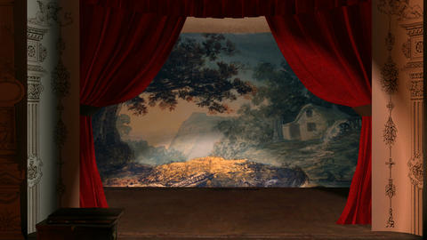 Victorian Theater Backdrop/Background: Looping CG動画素材