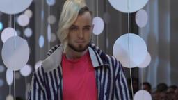 Guy model on fashion show Footage