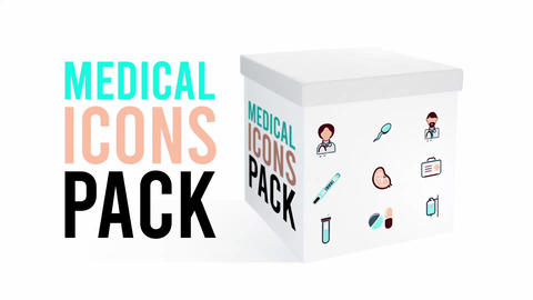 Medical icons Pack Plantilla de After Effects