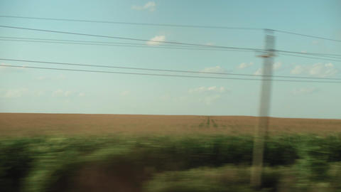 Transport, travel, road, railway, landscape, comnication concept - view from Live Action