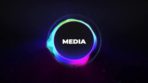 Neon Titles Logo Reveal Apple Motion Template