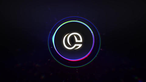 Neon & Colorful & Black Titles Logo Reveal Apple Motion Template