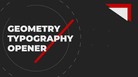 Geometry Typography Opener After Effects Template