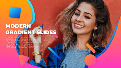 Modern Gradient Slides After Effects Template