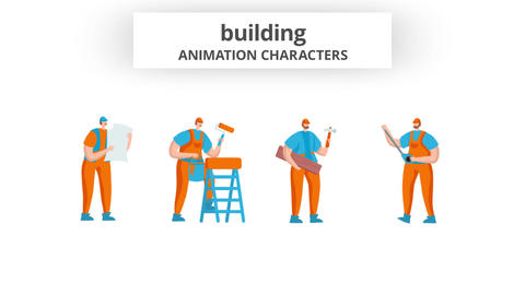 Building - Character Set After Effects Template