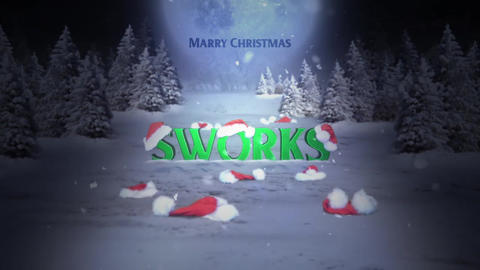 Christmas Holidays Logo Intro After Effects Template