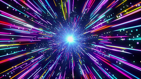 4k Speed of light Light Streaks Multicolor neon Live Action