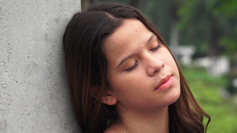Tired Sleeping Teen Girl Resting Live Action