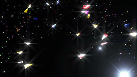 Confetti 3 Move 3LB 4K CG動画素材