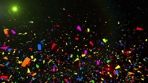 Confetti 3 Verti Fix 4MB 4K CG動画素材