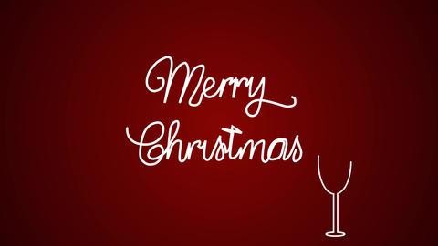 Merry christmas background animation, flat design Animation