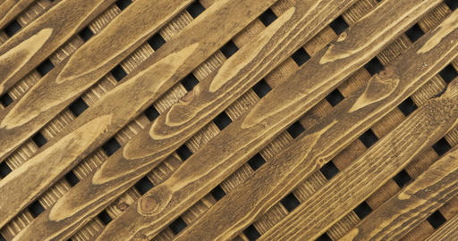 Texture of the wooden lattice. Natural wooden diagonal lattice.Top view Live Action