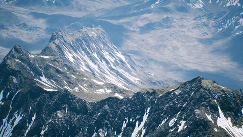 Aerial View Landscape of Mountais with Snow covered Live Action