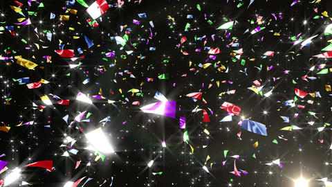 Confetti 3 LookUp Fix 4LB L 4K CG動画素材