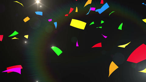 Confetti 3 LookUp Fix 4XB 4K CG動画素材