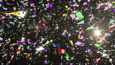 Confetti 3 LookUp Fix 6MB L 4K CG動画素材