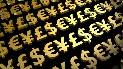 Foreign Exchange or Forex Currency Trading Signs Animation