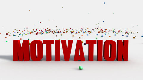 Motivation Concept on White Background with Colorful Blocks Animation