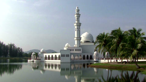 Malaysia mosque in Terennganu city Footage