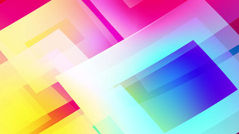 Slow motion of colourful shapes video background glassy and transparent circular shapes Live Action