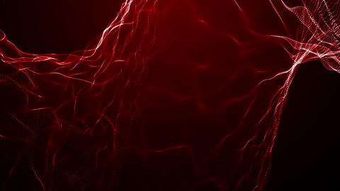 Particles red event game trailer titles cinematic concert stage background loop Animation