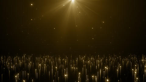Particles gold event awards trailer titles cinematic concert stage background loop Animation