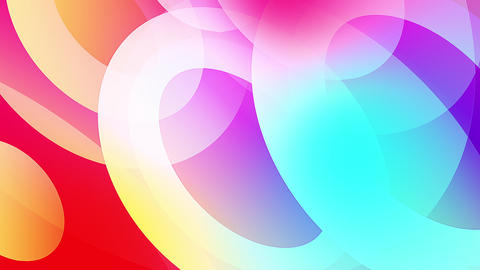 Slow motion of colourful shapes video background glassy and transparent circular shapes 4 Live Action