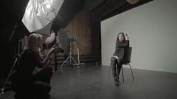 Photo shoot in photo Studio Footage