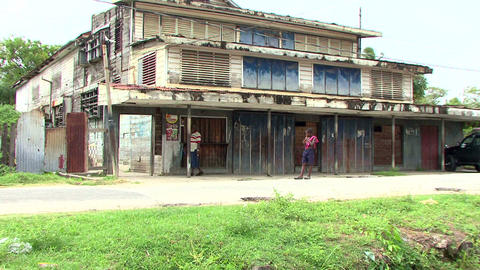 Guyana village old theater Live Action