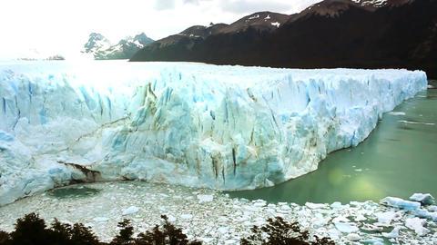 Perito Moreno Glacier And Sun Beams Footage