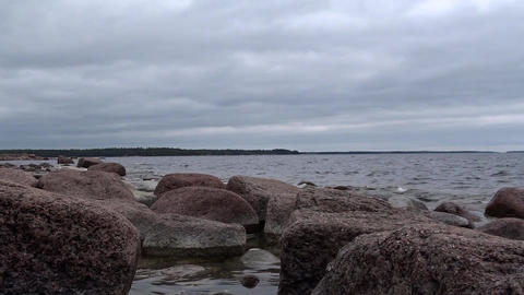 Granite rocks at the Finnish Baltic Coast Footage