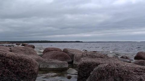 Granite rocks at the Finnish Baltic Coast Footage