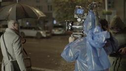 Behind the scenes shooting night scenes of the film Footage