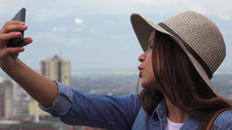 Teen Girl Taking Selfies Live Action