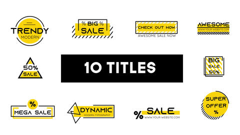 Sale Title & Background MOKA After Effects Template