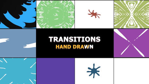 Hand Drawn Transitions Pack After Effects Template