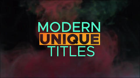 Colorful Big Titles Apple Motion Template