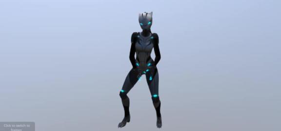 Rigged lynx model 3D Model