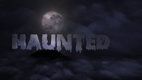 Haunted Title for FCPX Apple Motion Template