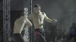 Fight the fighters in the octagon. MMA Footage