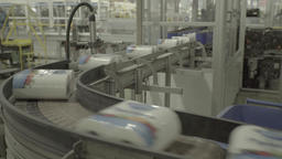The conveyor operates at the factory during production Live Action