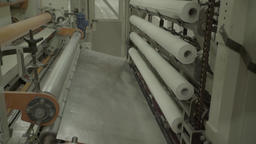 Machine for the manufacture of paper works with paper rolls Footage