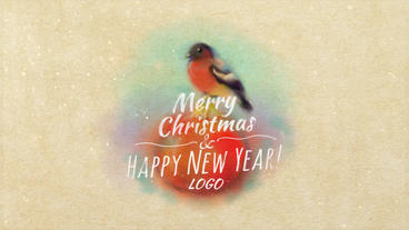 Christmas Card With Bullfinch After Effects Project