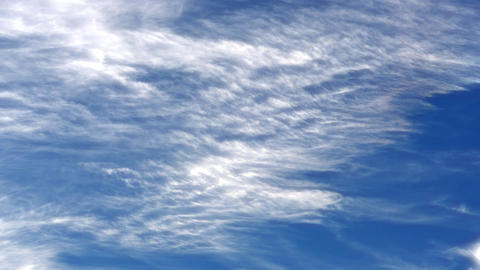 4K Sky With Clouds / Jet Streams / Clouds Timelapse Live Action