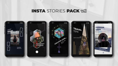 Insta Stories Pack v 1 After Effects Template
