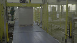 Running the conveyor at the factory during the production process Footage