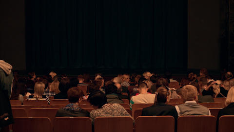 People Take Their Places in Theatre Before Show Footage