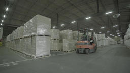 A warehouse with finished goods in the factory Footage
