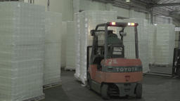 Loading of goods in the warehouse using forklift Footage