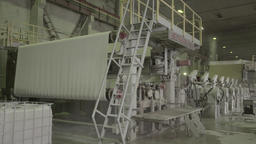 The factory machines in the production process Footage